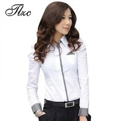29.99$  Watch here - http://vilbx.justgood.pw/vig/item.php?t=6fu2ul424973 - TLZC Women Shirt New Fashion Office Lady White Shirt New Korean Casual Design T 29.99$