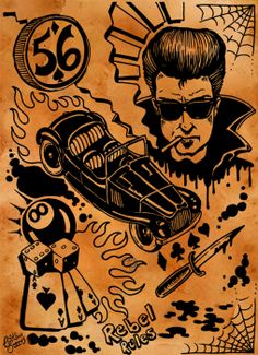 Rockabilly art.