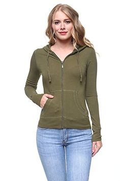 Women's Active USA Full Zip Up Long Sleeve Pockets Hoodie Jacket SIZE (Large, Olive Green) * Find out more about the great product at the image link. (This is an affiliate link and I receive a commission for the sales) Fashion Hoodies, Hoodie Jacket, Olive Green, Plus Size Fashion, Zip Ups, Image Link, Fashion Outfits, Long Sleeve, Sleeves