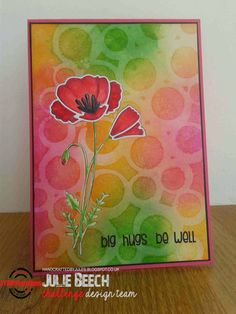 {ARTplorations Stencil Blog Hop Day 2} Card by Julie using ARTplorations Bubbles stencil and Bloom Sketches sentiment