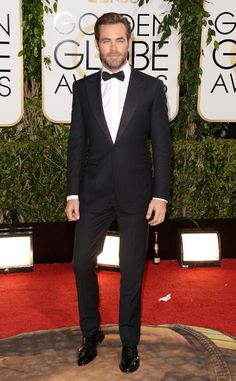 Chris Pine from 2014 Golden Globes: Red Carpet Arrivals | E! Online