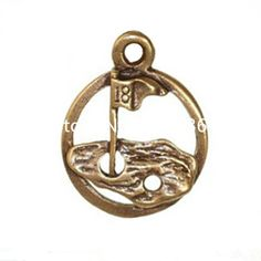 Hot Sale Alloy 18th Hole Golf Flag Round Charm Bracelet Bangle Accessories Making