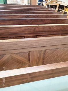 Prehung Walnut doors ready for inspection before assembly. Walnut prehung doors are available from our Showrooms in Tramore and Clonmel and online.