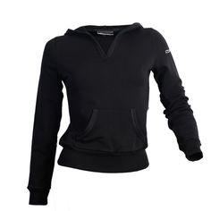 Reebok Women Skinny Style Sweatshirt Hoodie Black Color Size M Brand Fashion  #Reebok #Hoodie