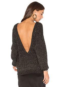 Sparkle V Back Sweater
