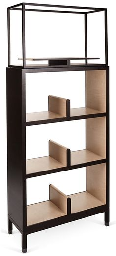 Nea Double Bookcase, Wenge | Italian Craftsmanship | One Kings Lane