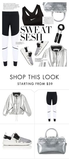 """""""Sweat Sesh: Gym Style"""" by flaunting ❤ liked on Polyvore featuring Monki, adidas, Y-3, Yves Saint Laurent and NIKE"""