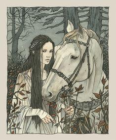 Enmeshed in Nan Elmoth. and before she (Aredhel) was aware she was enmeshed in Nan Elmoth. The Silmarillion chapter Of Maeglin J. Tolkien ~liga-marta on deviantART Art And Illustration, Design Illustrations, Tolkien, Mists Of Avalon, Fairytale Art, Art Design, Oeuvre D'art, Art Inspo, Illustrators
