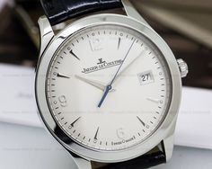 Jaeger-LeCoultre 154.84.20 Master Control Automatic, Q1548420, stainless steel on a strap with a stainless steel deployant buckle, automatic movement (Caliber 899), date at 3 o'clock, centered sweep second hand, sapphire crystal, silver dial with silver hour markers and Arabic numerals, solid case back, water resistant to 50 meters, diameter: 39 mm, thickness: 8.9 mm, Like New with Box and Papers dated Dec 2015. The watch was just completely serviced from 3 O Clock, 9 Mm, Omega Watch, Stainless Steel, Crystals, Box, Silver, Accessories, Money
