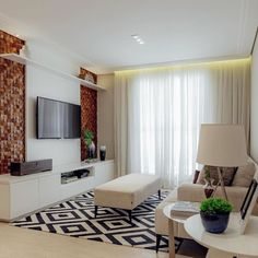 If you have a small living room, chances are you also have small furniture and fixtures to match. Small Living Room Design, Small House Design, Small Living Rooms, Living Room Designs, Living Room Decor, Condo Interior Design, Apartment Design, Interior And Exterior, Family Room Walls