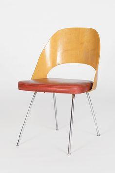 Early Saarinen Side Chair Birch 40's