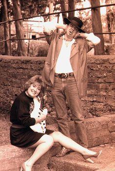 Stevie Ray Vaughan & friend, Jill Savage