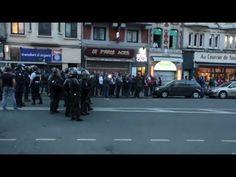 Soir de tensions : violents affrontements entre des supporters anglais et la police à Lille — RT en français