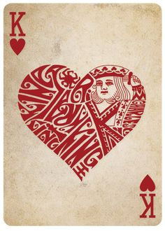 King of Hearts - Different Deck - Playing Cards Reinvented by Teach By Magic — Kickstarter Playing Cards Art, Playing Card Design, Unique Playing Cards, Vintage Playing Cards, Queen Chess Piece, Pokerface, Queen Of Spades, Card Tattoo, Heart Cards