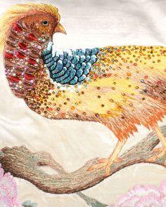 Golden Pheasant Pillow Golden Pheasant, Jay Strongwater, Chinoiserie, Rooster, Moose Art, Velvet, Turquoise, Watercolor, Pillows