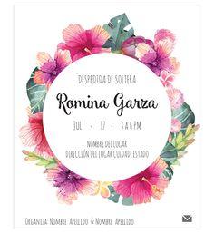 Diseño de Invitación para despedida de soltera lista para imprimir.