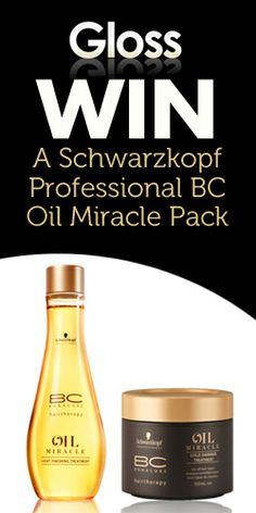 Win a Schwarzkopf Professional BC Oil Miracle Pack #bcoil #hairsamples