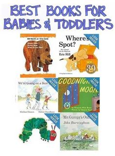 Most highly-rated and most often recommended best books for babies and toddlers based on a number of published sources.