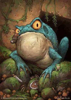 Card Name: Huge Toad Artist: Matt Dixon Frosch Illustration, Illustration Art, Cartoon Kunst, Cartoon Art, Character Art, Character Design, Frog Art, Frog And Toad, Creature Design