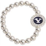 Brigham Young Cougars Round Crystal Beaded Stretch Bracelet