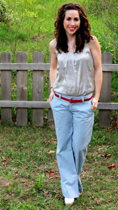 cute belt and pants look at FiveDaysFiveWays
