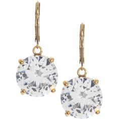Betsey Johnson Circle Crystal Drop Earrings ($40) ❤ liked on Polyvore featuring jewelry, earrings, no color, polish jewelry, betsey johnson earrings, crystal jewelry, crystal drop earrings and betsey johnson