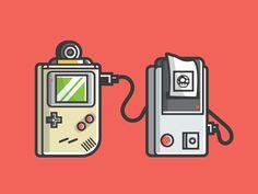 Game Boy Printer by Michael Norris #Design Popular #Dribbble #shots