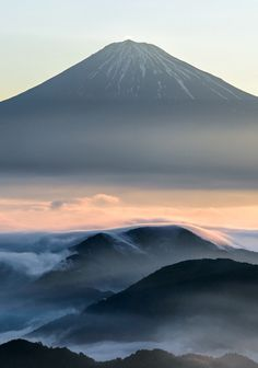First light.  Mt Fuji, Japan