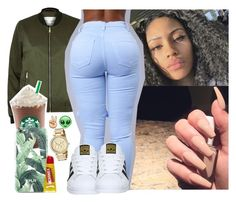 """"""""""" by saucinonyou999 ❤ liked on Polyvore featuring River Island, adidas and Michael Kors"""