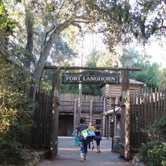 Disney World Facts & Trivia - Fort Langhorn on Tom Sawyer Island in the Magic Kingdom at Disney World.   The name of the fort honors the author of the Adventures of Tom Sawyer - Mark Twain was the pen name of Samuel Langhorne Clemens.  It was originally named Fort Sam Clemens when the park opened in 1973.  Subscribe to our free newsletter for great Disney World secrets - http://www.buildabettermousetrip.com/disney-freebies/