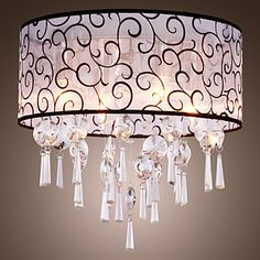 Elegant Crystal Chandelier with 4 Lights - USD $ 129.99