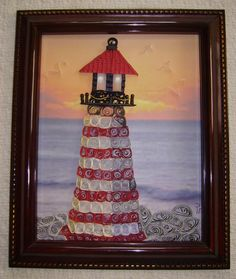 quilled Light house  made by Paula Hogue