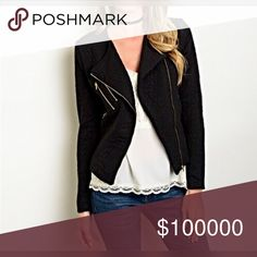 """Arriving soon! The """"It"""" Moto jacket 💋 Chic - mod style with gold tone hardware Jackets & Coats"""