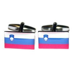 Manchetknopen Sloveense Vlag