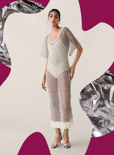 The Top Spring Trends Are Hiding in Zara's Best-Sellers List Spring Tops, Vacation Outfits, Spring Trends, Sheer Dress, Frocks, Best Sellers, Zara, Short Sleeve Dresses, Two Piece Skirt Set