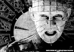 HELLRAISER (1987) Graphite pencil drawing on wood 50 x 70 cm #hellraiser #clivebarker #movies #artwork #fineart #drawing #cinema #horror #illustration #horrorgallery