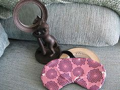 NEW PINK EYE CANDY FLORAL SLEEP EYE MASK W/BLING!-RELAX-STOCKING STUFFER
