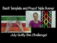 ▶ Quilty Box Challenge! Piecing a Precut Table Runner with BasiX Template - YouTube