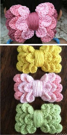 Crochet Flowers Easy Crochet Bow Headband An Easy Free Pattern - A Crochet Bow Headband is the perfect accessory for your favourite outfit and will banish your bad hair days for good. You will love these free patterns. Crochet Hair Clips, Crochet Headband Free, Crochet Gloves, Crochet Flower Headbands, Bow Headbands, Hat Crochet, Crochet Headband Pattern, Crochet Flower Patterns, Crochet Bows Free Pattern