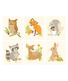 Forest Friends print set