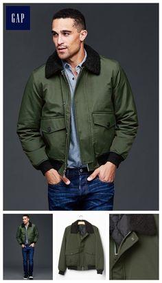 82 GAP Nylon aviator jacket Gap 9310a211f7d6d