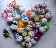 Crochet snowman amigurumi pattern