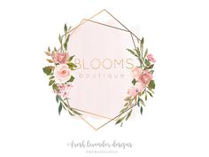 Your place to buy and sell all things handmade Logo Floral, Flower Logo, Watercolor Logo, Floral Watercolor, Shabby Chic Logo, Rustic Logo, Wedding Logos, Shop Logo, Branding