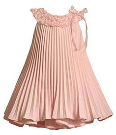 Bonnie Jean Pleated Linen-Look Dress