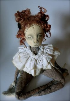 Helsa Large Silk and Linen Cloth Art Doll by ThePaleRook on Etsy
