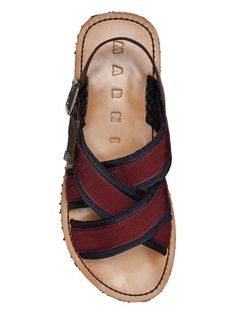 Sandals Marni, Leather Sandals, Birkenstock, Red And Blue, Spring Summer, Ribbon, Shopping, Shoes, Fashion