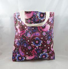 Cute Birds Fabric Tote Bag - Free UK P&P £10.00