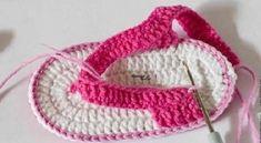 sandalinha de crochê para Bebê acaba
