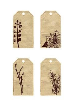 Vintage Tags, Vintage Labels, Page Decoration, Diy And Crafts, Paper Crafts, Handmade Gift Tags, Printable Tags, Smash Book, Hang Tags