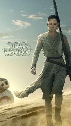 Star Wars: The Force Awakens - Rey - Daisy Ridley Lockscreen image 1280*720 / Samsung Galaxy S Advance I9070 #ForceAwakens #Rey #DaisyRidley #StarWars #Lockscreen